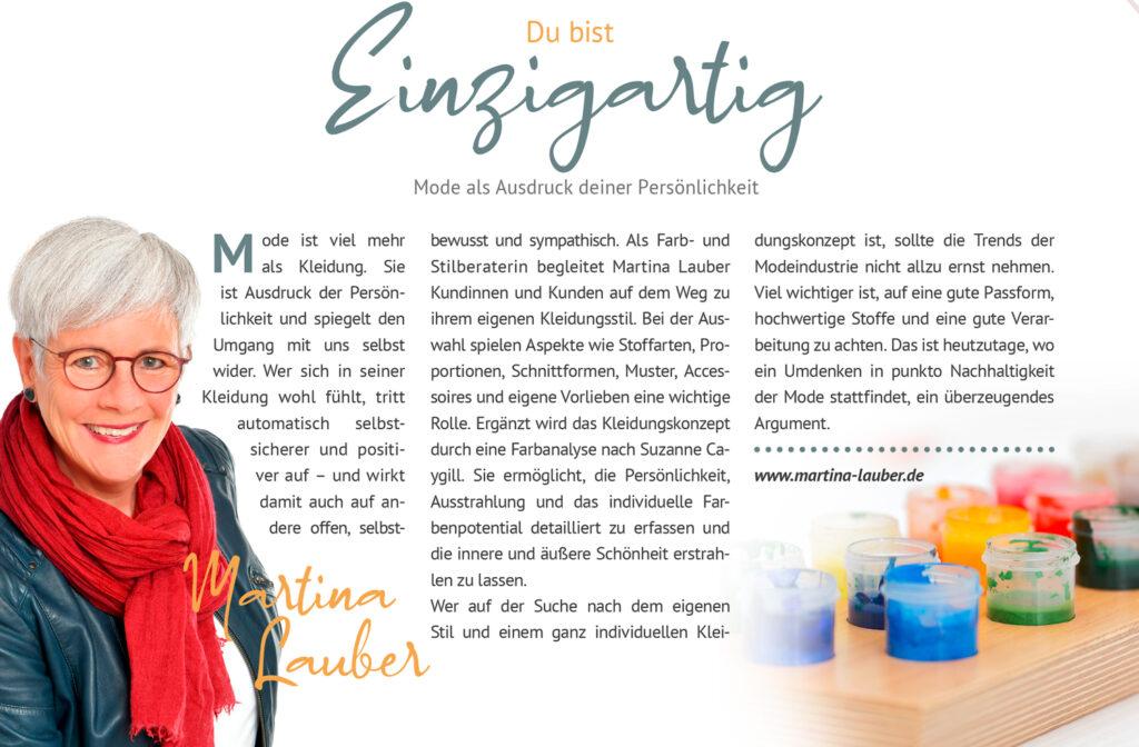 Martina-Lauber-Ausgabe der Zeitschrift bewusster Leben